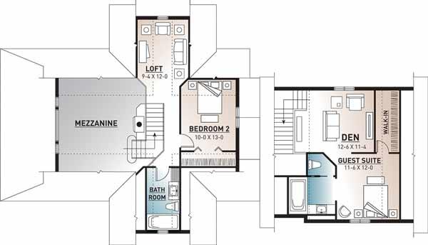 Upper/Second Floor Plan: 5-760
