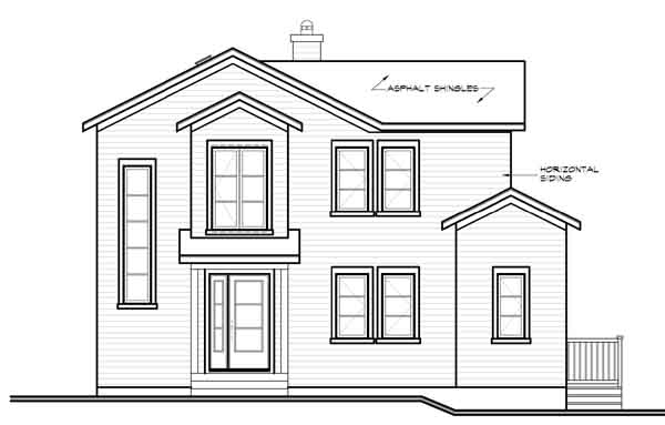 Rear Elevation Plan: 5-763