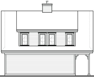 Rear Elevation Plan: 5-764