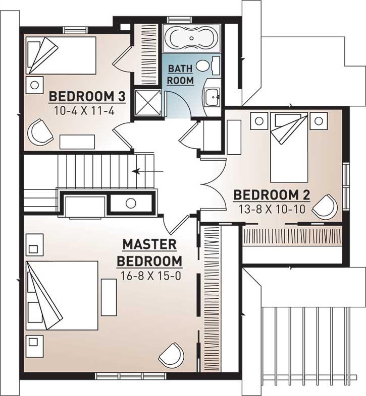 Upper/Second Floor Plan: 5-765