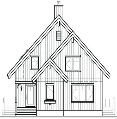 Rear Elevation Plan: 5-767