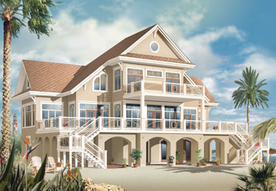 Coastal Style Home Design Plan: 5-768