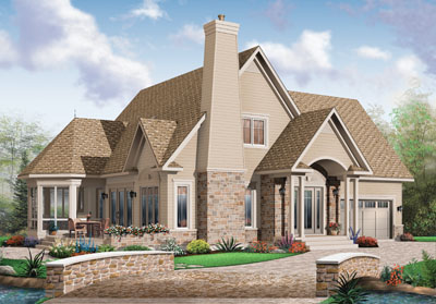 Traditional Style Home Design Plan: 5-769