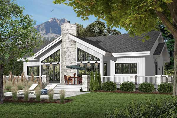 Contemporary Style Home Design Plan: 5-771