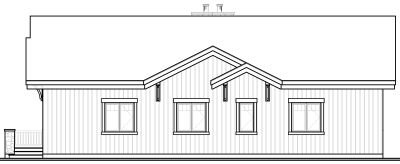 Rear Elevation Plan: 5-771
