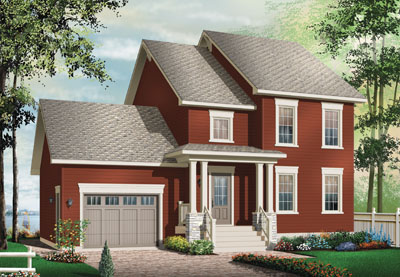 Colonial Style Floor Plans Plan: 5-773