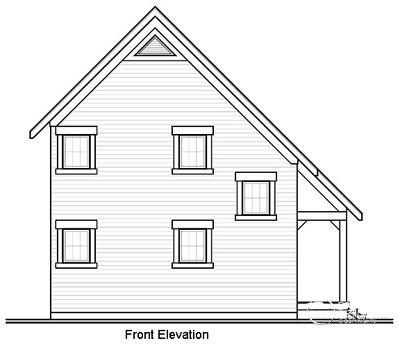 Rear Elevation Plan: 5-775