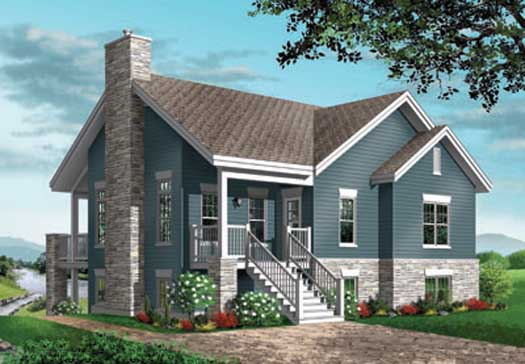 Traditional Style Home Design Plan: 5-776