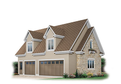 English-country Style Home Design Plan: 5-777