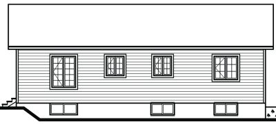 Rear Elevation Plan: 5-781