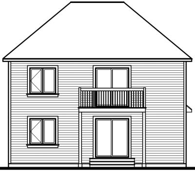 Rear Elevation Plan: 5-782