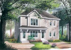 Traditional Style Home Design Plan: 5-782