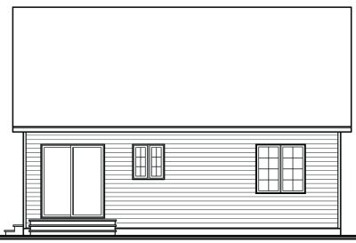 Rear Elevation Plan: 5-783