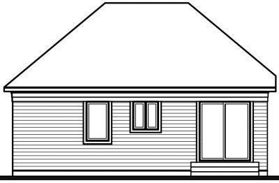 Rear Elevation Plan: 5-784