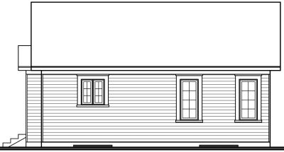 Rear Elevation Plan: 5-785
