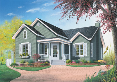 Country Style Home Design Plan: 5-786