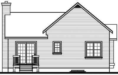 Rear Elevation Plan: 5-786