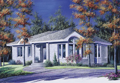 Contemporary Style House Plans Plan: 5-787