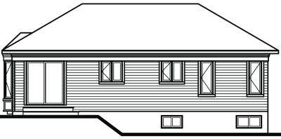 Rear Elevation Plan: 5-787