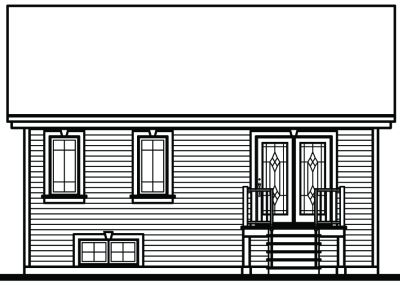 Rear Elevation Plan: 5-788