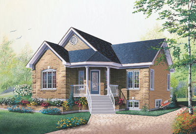 Country Style Home Design Plan: 5-789