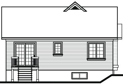 Rear Elevation Plan: 5-789