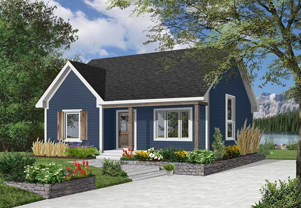 Country Style Floor Plans Plan: 5-790