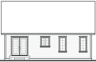 Rear Elevation Plan: 5-790
