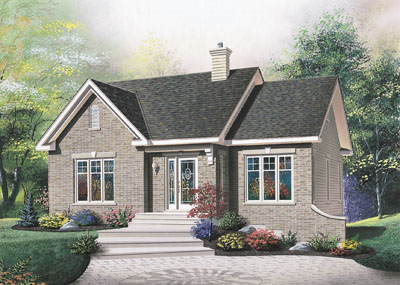 Traditional Style Home Design Plan: 5-791