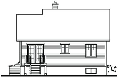 Rear Elevation Plan: 5-791