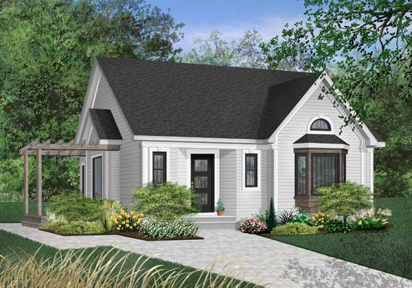 Cottage Style Home Design Plan: 5-792