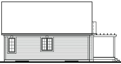 Rear Elevation Plan: 5-792