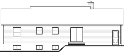 Rear Elevation Plan: 5-793