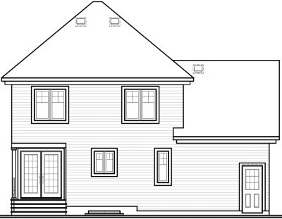 Rear Elevation Plan: 5-795