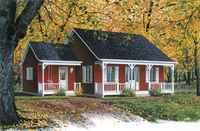 Country Style Floor Plans Plan: 5-796