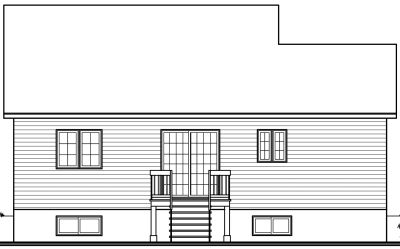 Rear Elevation Plan: 5-796