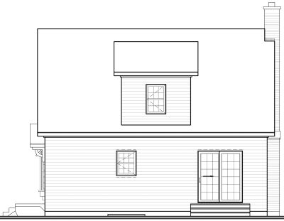 Rear Elevation Plan: 5-797