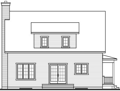 Rear Elevation Plan: 5-799