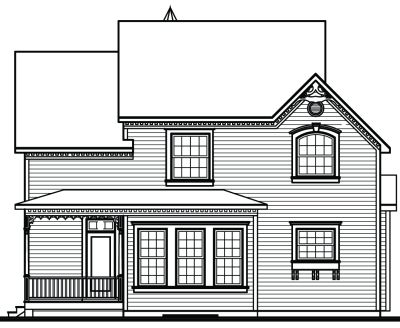 Rear Elevation Plan: 5-800