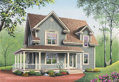 Farm Style Floor Plans Plan: 5-802
