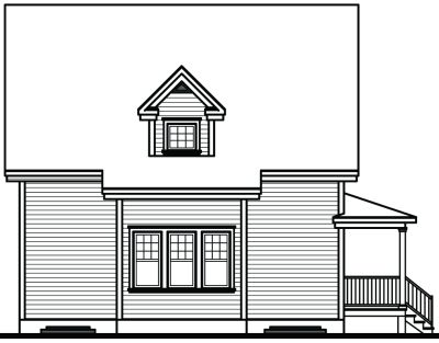 Rear Elevation Plan: 5-802