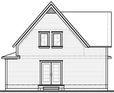 Rear Elevation Plan: 5-803