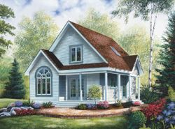 Country Style Floor Plans Plan: 5-804