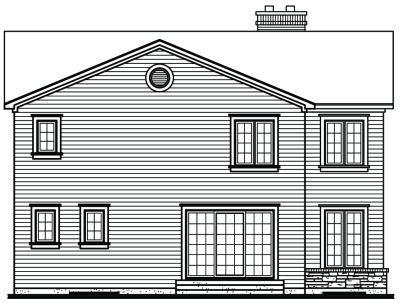 Rear Elevation Plan: 5-805