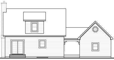Rear Elevation Plan: 5-806