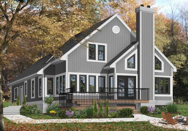 Contemporary Style Home Design Plan: 5-807