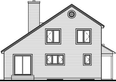 Rear Elevation Plan: 5-808