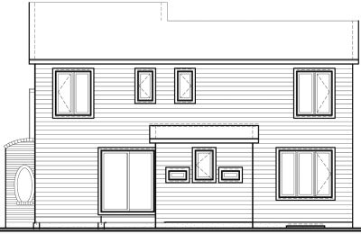 Rear Elevation Plan: 5-810