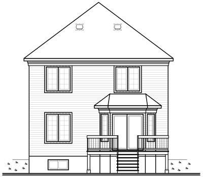 Rear Elevation Plan: 5-812