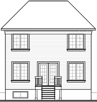 Rear Elevation Plan: 5-813